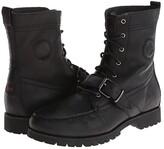 Polo Ralph Lauren Ranger (Black Pull Up Grain Leather) Men's Lace-up Boots