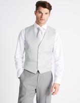 Marks and Spencer Regular Fit Jacquard Waistcoat