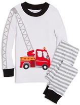 Sara's Prints Boys' Ladder Firetruck Pajama Set - Sizes 2-7