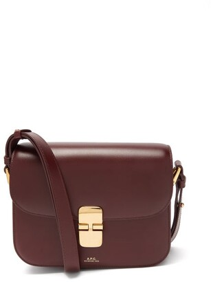 A.P.C. Grace Leather Cross-body Bag - Burgundy