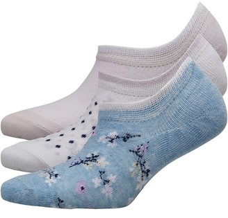 Fruit Cake Fruitcake Womens Invisible Trainer Liners Twist Yarn/Blue White Grey