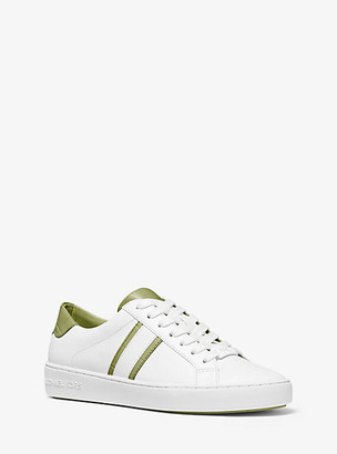 MICHAEL Michael Kors MK Irving Two-Tone Stripe Leather Sneaker - Light Sage - Michael Kors
