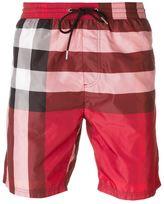 Burberry plaid print swim shorts