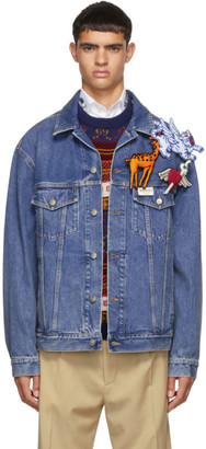 Gucci Blue Denim Pin Jacket