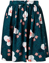 John Lewis Girls' Large Floral Print Skirt, Green