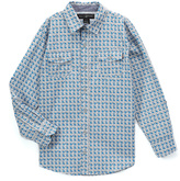 Beverly Hills Polo Club Blue & Gray Stitch Check Long-Sleeve Button-Up - Boys