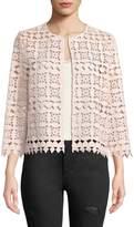 Neiman Marcus Crochet Lace Jacket