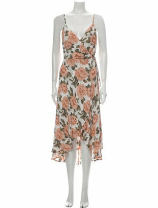 Reformation Floral Print Midi Length Dress w/ Tags Pink