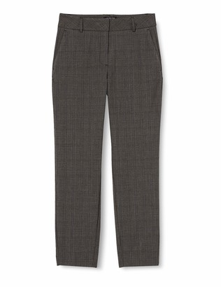 Selected Femme NOS Women's SLFRIA MW Cropped Pant MB Check NOOS Trouser