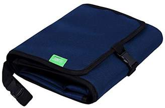 Camilla And Marc LULANDO Waterproof Changing mat Set 50 x 60 cm - Compact, Lightweight, Portable, for Buggies, Travel, Made of Washable and Waterproof Fabric, Practical Pockets and Built-in Head Cushion (Navy Blue)