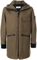 Stone Island hooded jacket - men - Polyamide/Wool - S