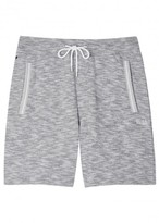 Boss Grey Mélange Cotton Shorts