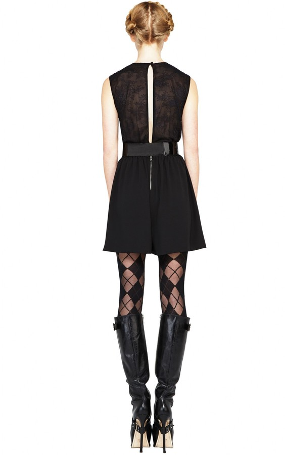 Alice + Olivia Marlo Cross Over Shoulder Back Romper