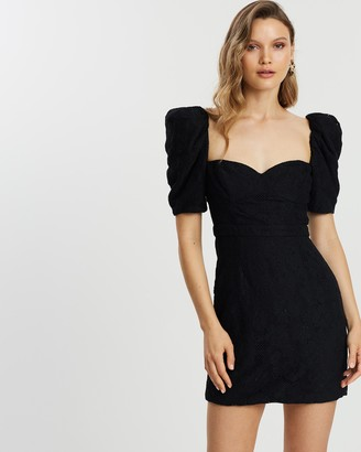 Fame & Partners Structured Micro Mini Dress