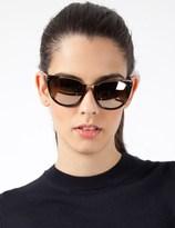 Linda Farrow Luxe Linda Farrow Black Acetate w/ gold Lens Sunglasses