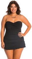 Profile by Gottex Plus Size Tutti Frutti Bandeau Swim Dress 8140270