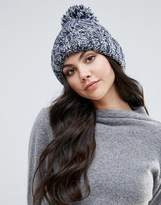 Alice Hannah Marl Chunky Knit Cable Beanie Hat