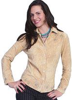 Scully Women's Studded Boar Suede Western Shirt L233