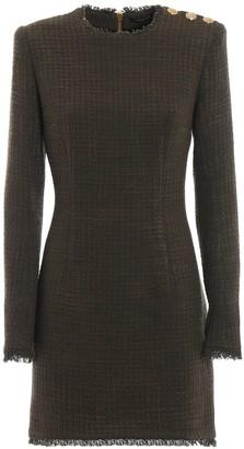 Balmain Fitted Long-Sleeved Dress
