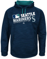 Majestic Men's Big & Tall Seattle Mariners Authentic Collection Choice Hoodie