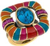 "Heidi Daus Park Avenue South"" Crystal and Enamel Ring"
