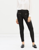 The Kooples Biker Wax Trousers