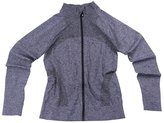 Senchanting Plus Size Full Zip Workout Jacket with Thumb Holes Yoga Sweatshirts(,XL)