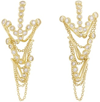 H.Stern Yellow Gold And Diamond Silk By Drop Earrings