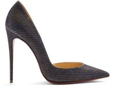 Christian Louboutin Iriza 100mm leather glitter-chain pumps