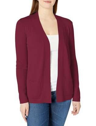 Jones New York Women's Long Sleeve Open Front Two Pocket Cardigan Sweater