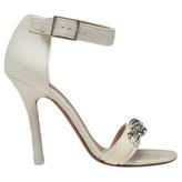 Celine Calfskin sandals with a ponyskin effect