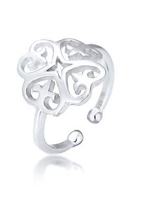 Elli Women's 925 Sterling Silver Round Adjustable Ring