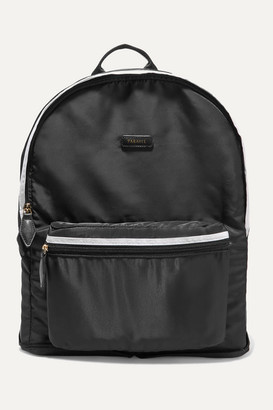 Paravel Fold-up Leather And Grosgrain-trimmed Shell Backpack - Black