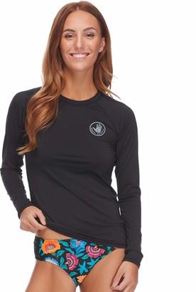 Body Glove Women's Sleek Solid Long Sleeve Rashguard with UPF 50+ Rash Guard Shirt
