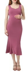 Kimi and Kai Kora Maternity Mermaid Midi Dress