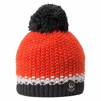 Giesswein Beanie Grubenkopf neon Orange ONE - Bobble hat with Merino Wool Unisex Winter Knitted hat Warm hat with Fleece Lining Winter Beanie for Ladies and Gentlemen Fleece Lining