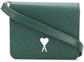 AMI Paris Mini Leather Accordion Bag