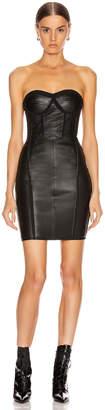 RtA Gwenyth Leather Dress in Black | FWRD