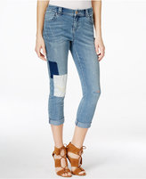 INC International Concepts Cropped Patchwork Jeans, Only at Macy's