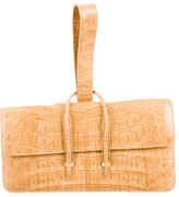 Nancy Gonzalez Tan Crocodile Clutch