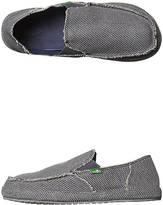 Sanuk Canvas Rubber Charcoal High Rebound Molded EVA Mens Slip-Ons