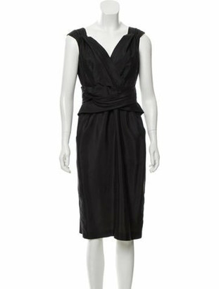 Gucci Silk Midi Dress Black