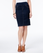 Style&Co. Style & Co Style & Co Petite Ella Pull-On Denim Skirt, Created for Macy's