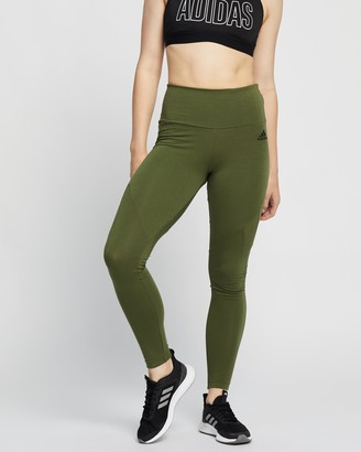 adidas Women's Green Tights - Sportswear Cotton Leggings - Size XS at The Iconic