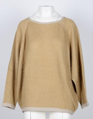 Lamberto Losani Beige 100% Cashmere Women's Sweater