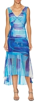 Tracy Reese Silk Print High Low Dress