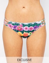 Jaded London Exclusive to ASOS Flower Garden Strap Bikini Bottoms