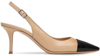 Gianvito Rossi 70mm Patent Leather Sling Back Pumps