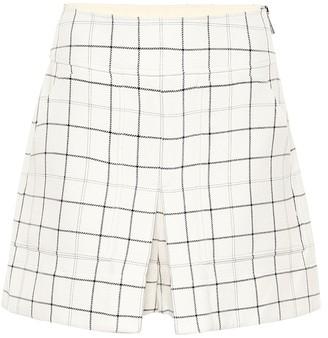 Tibi WIndowpane Cargo checked shorts