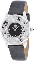 Jivago Brilliance Womens Black Leather Strap Watch